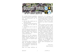 Couverture Bourth Infos N°3
